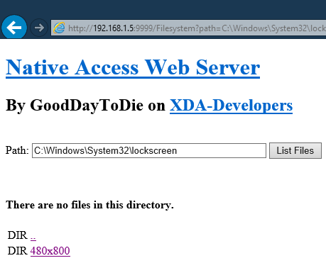 GoodDayToDie Webserver 480x800